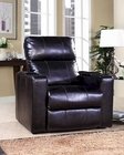 PRI Larson Power Recliner w/ USB & Storage in Black PR-1985-178-112