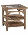 Primitive Square Lamp Table Sutton's Bay by Hekman HE-14107