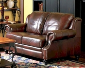 Princeton Leather Love Seat with Nail Head Trim CO500662
