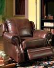 Princeton Rolled Arm Leather Recliner CO500663