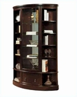 Pulaski Bookcase Curio in Transitional Style PF-21469