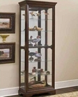 Pulaski Cabinet Curio in Brown PF-21308