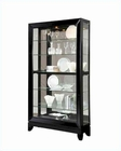 Pulaski Cabinet Curio with Black Glass Panels PF-21472