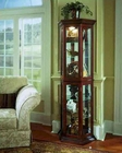 Pulaski Cabinet Curio with Stepped Frame Moldings PF-20853