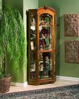 Pulaski Corner Curio in Estate Oak PF-20639