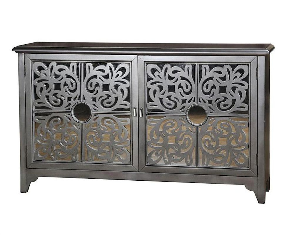sc 1 st  Home Furniture Mart & Pulaski Credenza w/ Ornamental Fretwork Doors PF-675081