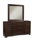 Pulaski Sable Dresser and Mirror PF-330100SET