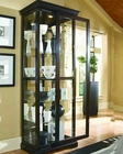 Pulaski Two Way Sliding Door Curio in Choc Cherry PF-20994