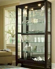Pulaski Two Way Sliding Door Curio in Dark Brown PF-20661