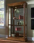 Pulaski Two Way Sliding Door Curio in Golden Oak PF-20544