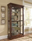 Pulaski Two Way Sliding Door Medallion in Cherry Curio PF-20485