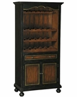 Pulaski Wine Cabinet in Black and Brown Finish PF-675000