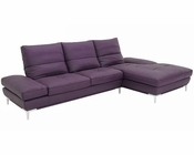Purple Modern Leather Sectional Sofa Set 44L1307PP