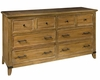 Rastic Six Drawer Dresser Harbor Springs by Hekman HE-941501RL