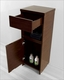 Raynard 16in Walnut Side Cabinet by Virtu USA VU-ESC-900-WA