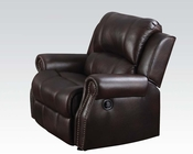 Recliner in Brown Polished Microfiber Josef by Acme AC50777