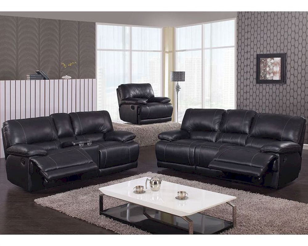 Reclining Black Sofa Set Mcfsf3609 Set