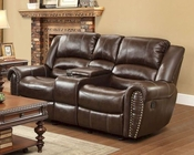 Reclining Brown Loveseat Center Hill by Homelegance EL-9668BRW-2