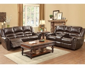 Reclining Brown Sofa Set Center Hill by Homelegance EL-9668BRW-3-SET