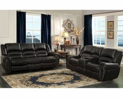 Reclining Sofa Set Center Hill by Homelegance EL-9668BLK-SET