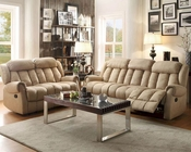Reclining Sofa Set Mankato in Beige by Homelegance EL-8535BE-SET