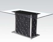 Rectangular Glass Top Dining Table Nancy by Acme AC71385