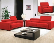 Red Fabric Sofa Set 44L0909