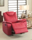 Red Glider Reclining Chair Talbot by Homelegance EL-8524RD-1