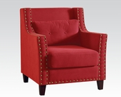 Red Linen Accent Chair by Acme AC59318