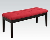 Red Linen Bench Effie by Acme Furniture AC71540