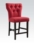 Red Linen Counter Height Chair Effie by Acme AC71525 (Set of 2)