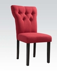 Red Linen Side Chair Effie by Acme Furniture AC71521 (Set of 2)
