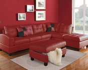 Red Sectional Sofa Set Kiva by Acme Furniture AC51185SET
