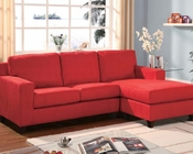 Red Sectional w/ Reversible Chaise Vogue by Acme AC05917A