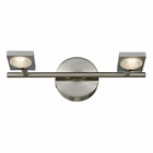 ELK Reilly Collection 2 light bath in Brushed Nickel-Brushed Aluminum EK-54011-2