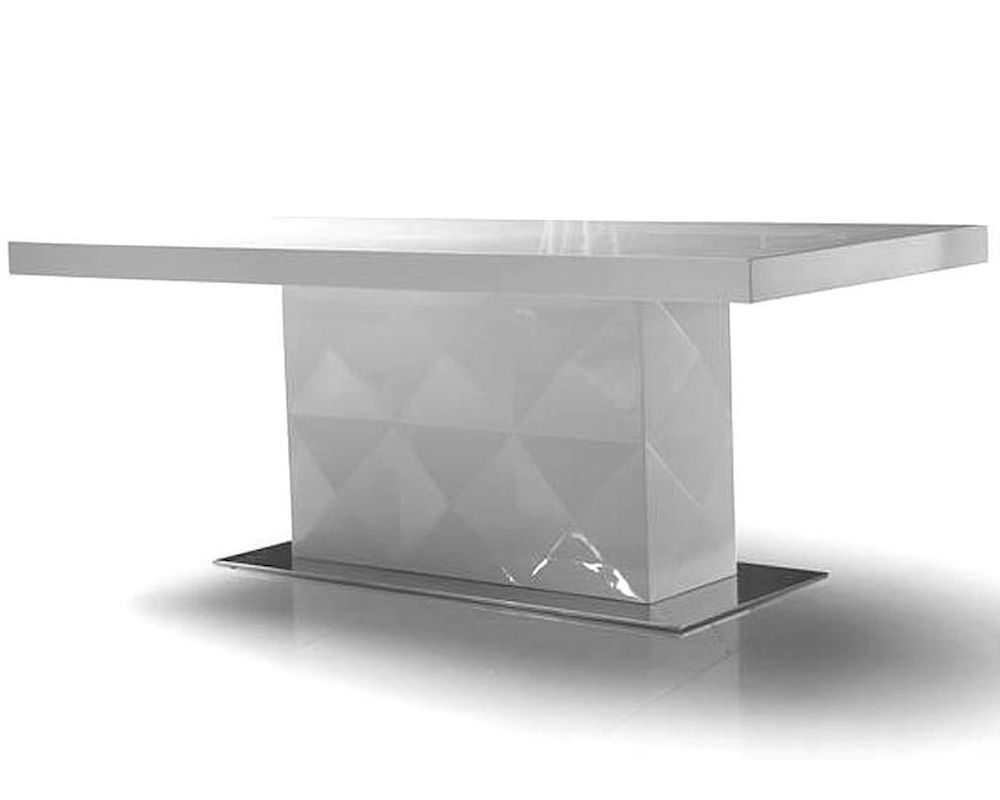 Renata modern white lacquer dining table 44dls201b for White lacquer dining table