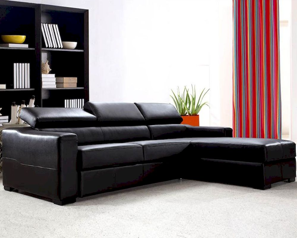 Reversible Leather Sectional Sofa Bed Set with Storage 44L0647 : storage sectional sofa - Sectionals, Sofas & Couches