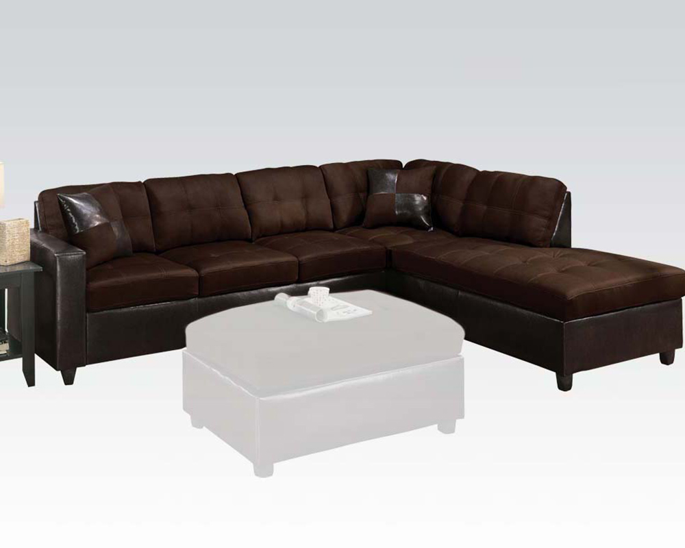 Reversible sectional sofa milano chocolate by acme for Reversible sectional sofa meaning