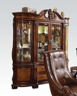 Rich Cherry Buffet w/ Hutch Winfred by Acme Furniture AC60078