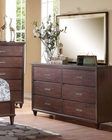 Rich Cherry Dresser w/ Mirror Raleigh by Acme AC22825DM
