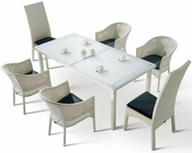 Roberta Outdoor Patio 7pc Dining Set 44PHT10