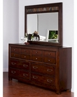 Rock Ridge Dresser w/ Mirror by Sunny Designs SU-2379WT-DM