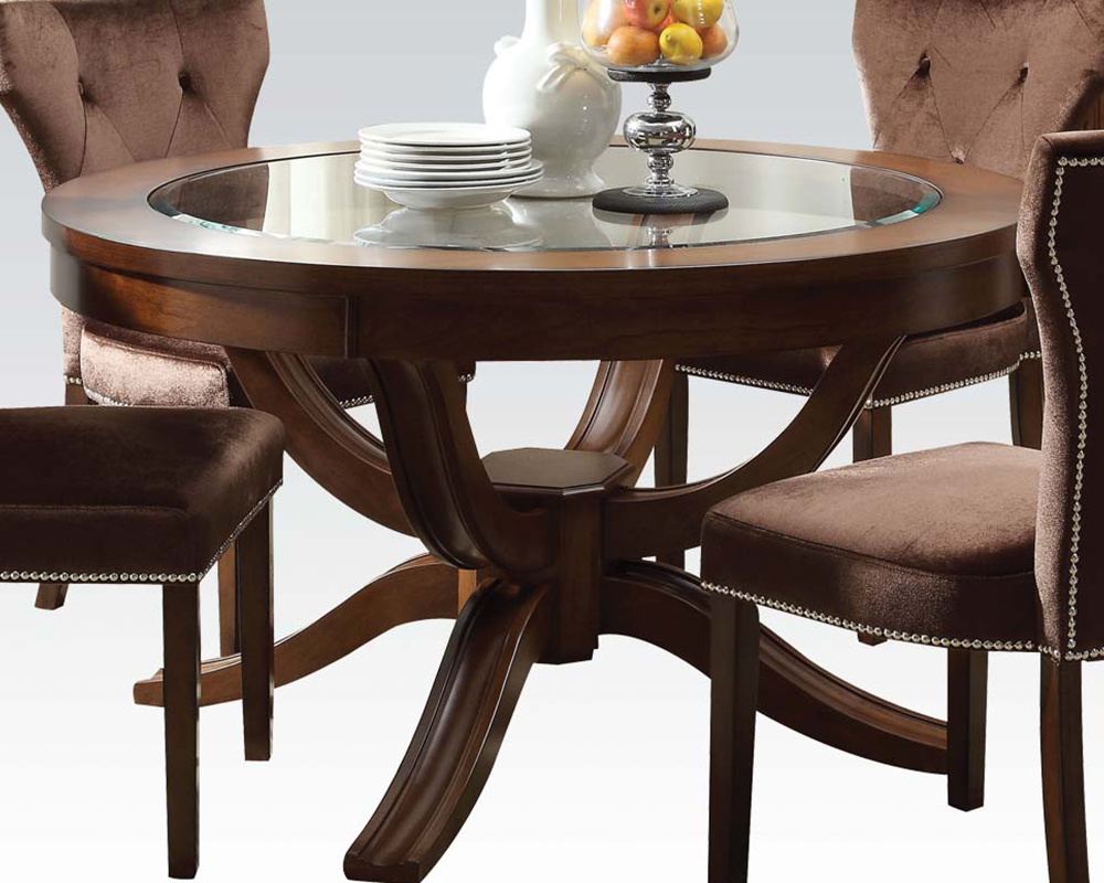 Round dining set kingston by acme furniture ac