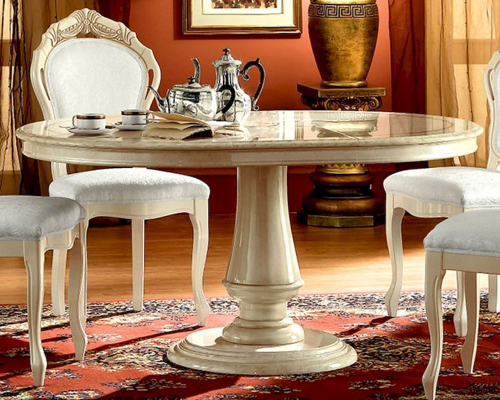 Round Dining Table Romana European Design Made In Italy 33D52