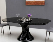 Round Extendable Lacquer Dining Table 44D2609XT-5