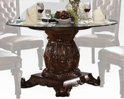 Round Glass Dining Table Vendome Cherry by Acme Furniture AC62010