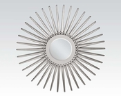 Round Silver Accent Mirror by Acme Furniture AC97054