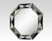 Round Silver/ Black Mirror by Acme Furniture AC97102