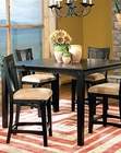 Rub Through Black Counter Height Table SF-11416