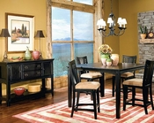 Rub Through Black Dining Set SF-11400Cs